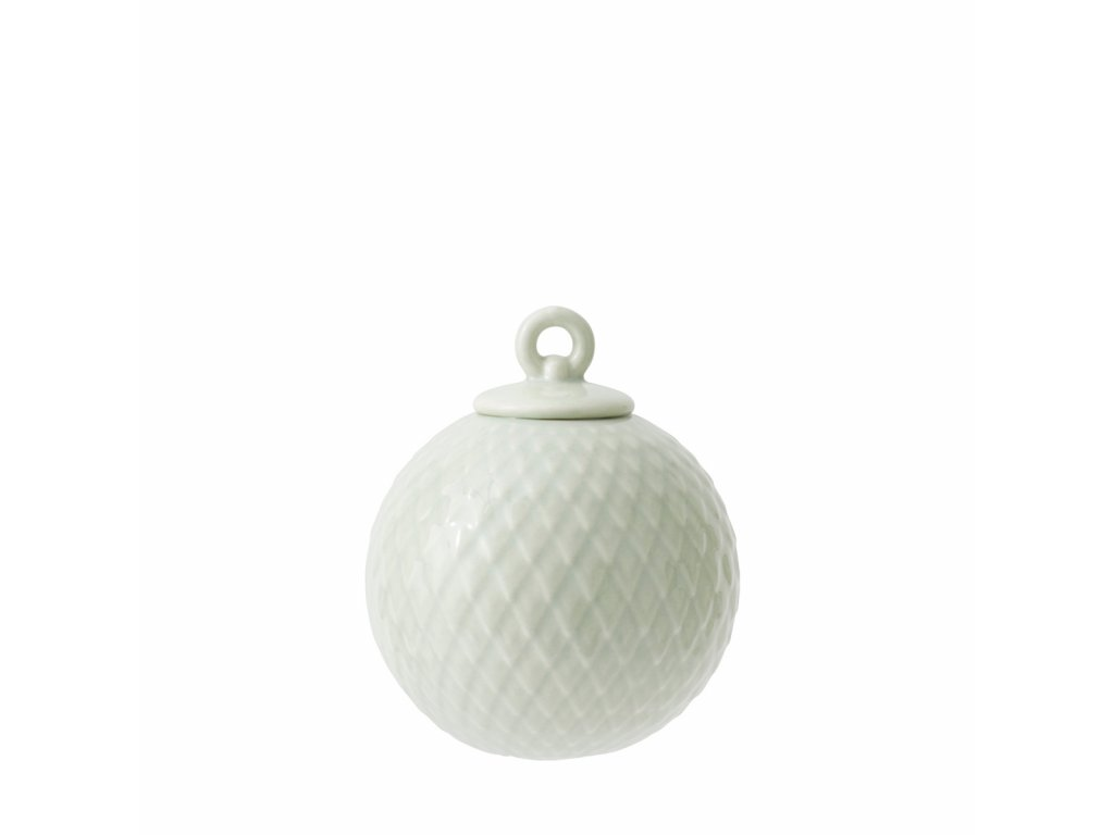 Porcelánová baňka Rhombe - Soft Green