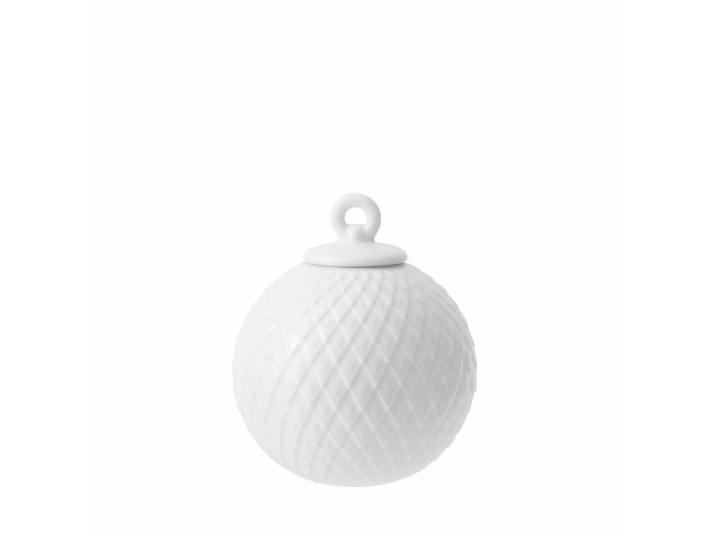 Porcelánová baňka Rhombe - White