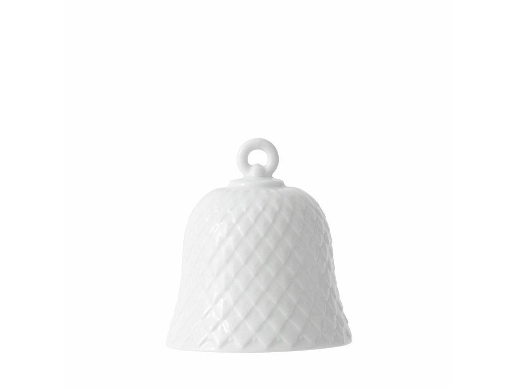 Porcelánový zvoneček Rhombe - White