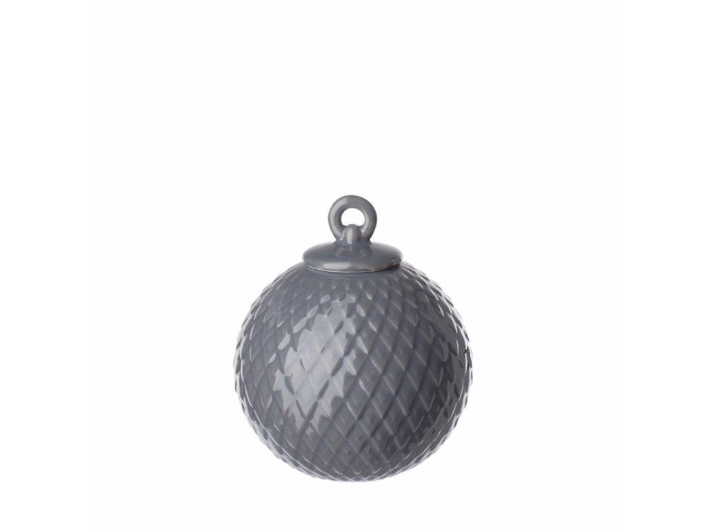 Porcelánová baňka Rhombe - Dark Grey