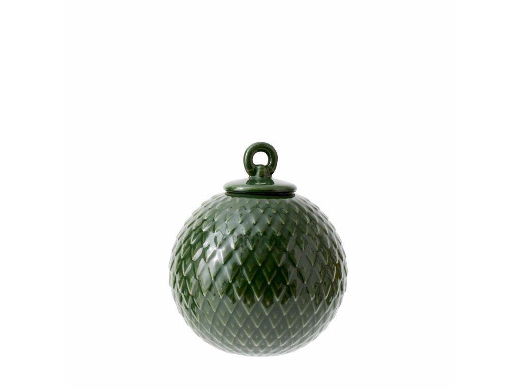 Porcelánová baňka Rhombe - Green