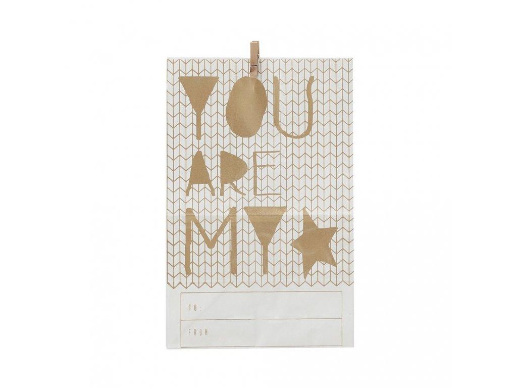 Papírový sáček White - My Star