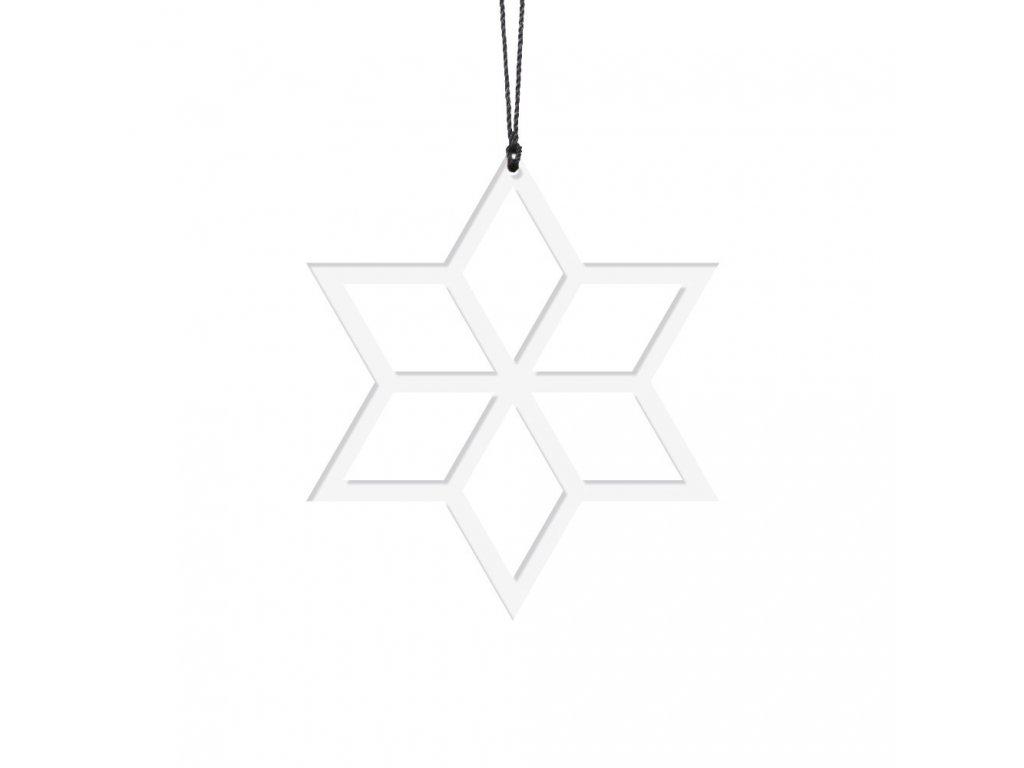 Ozdoba - bílá hvězdička 2ks