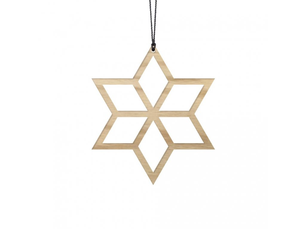 Ozdoba - dřevěná hvězdička 2ks