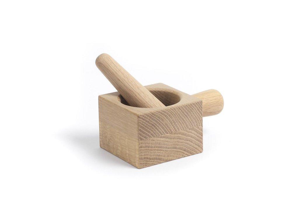 Dřevěný hmoždíř Mortar & Pestle