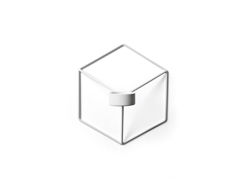Nástěnný svícen na čajovou svíčku POV - White