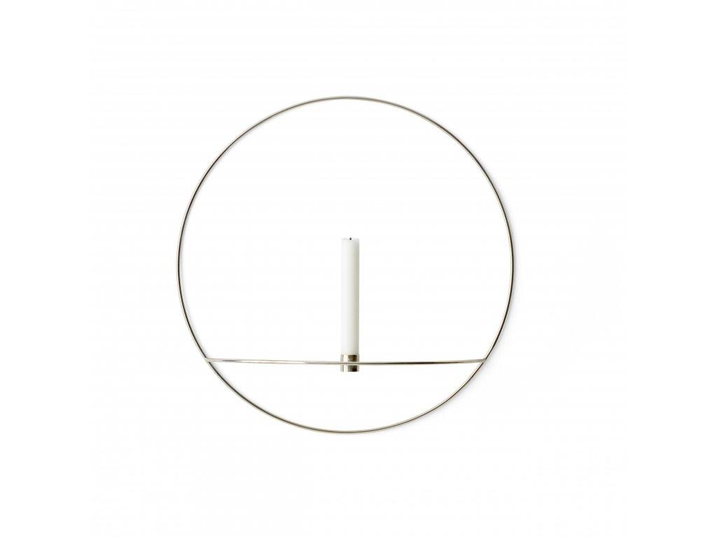 Svícen POV Circle Silver - L