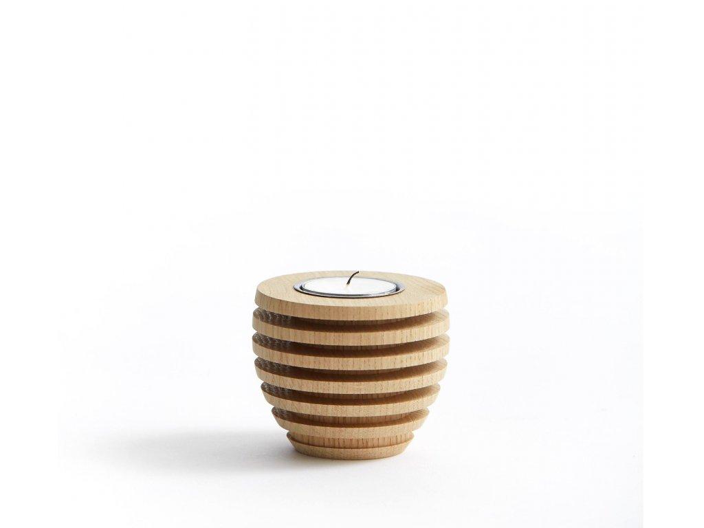 Dřevěný svícen Pine Oak - Tealight