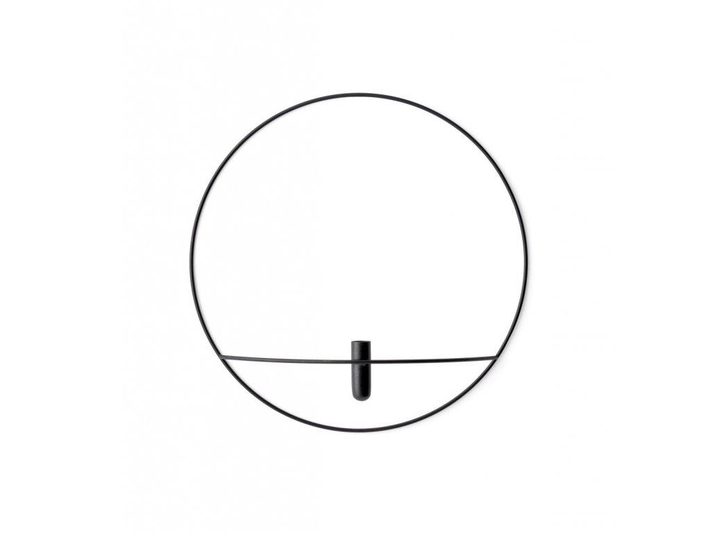 Svícen POV Circle Vase - Black