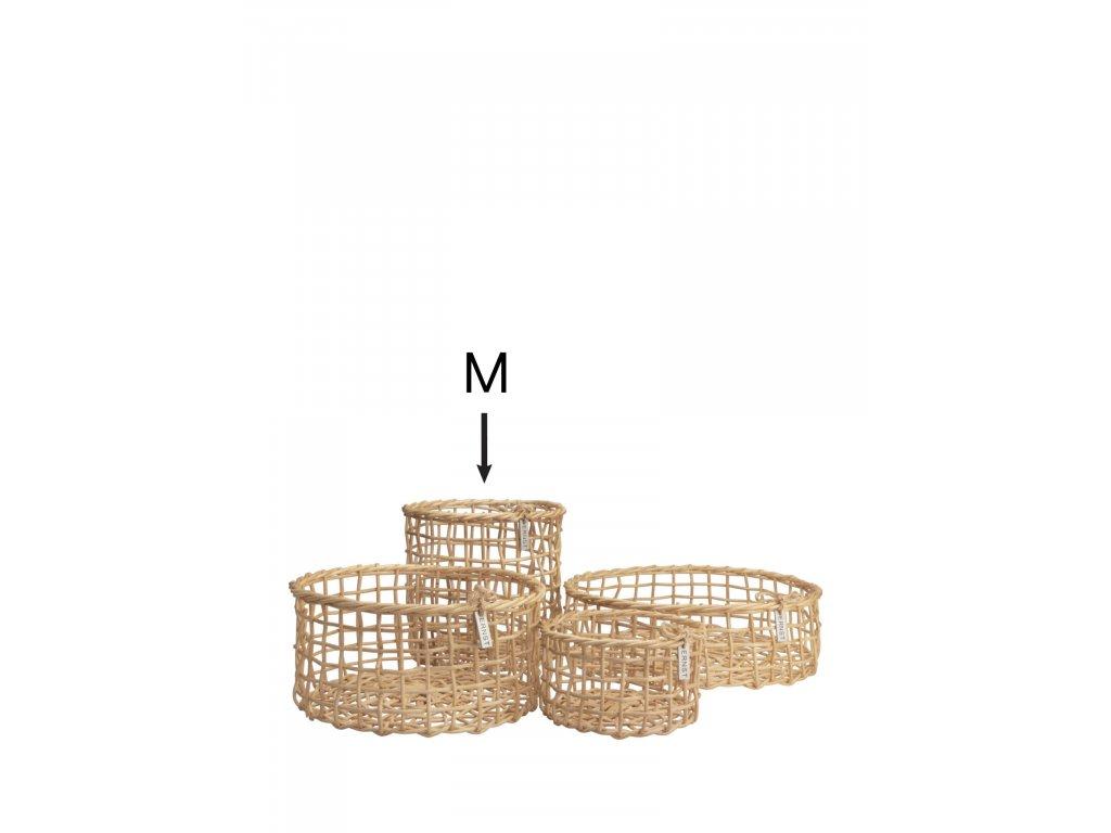 Bambusový košík Korgar Nature - M