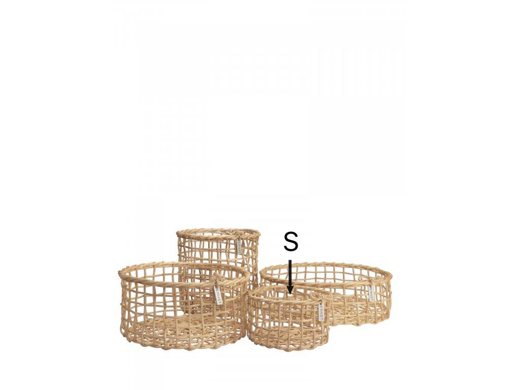 Bambusový košík Korgar Nature - S
