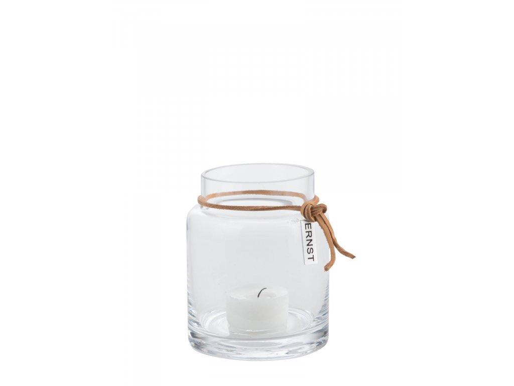 Skleněný svícen Ljuslykta - 10 cm