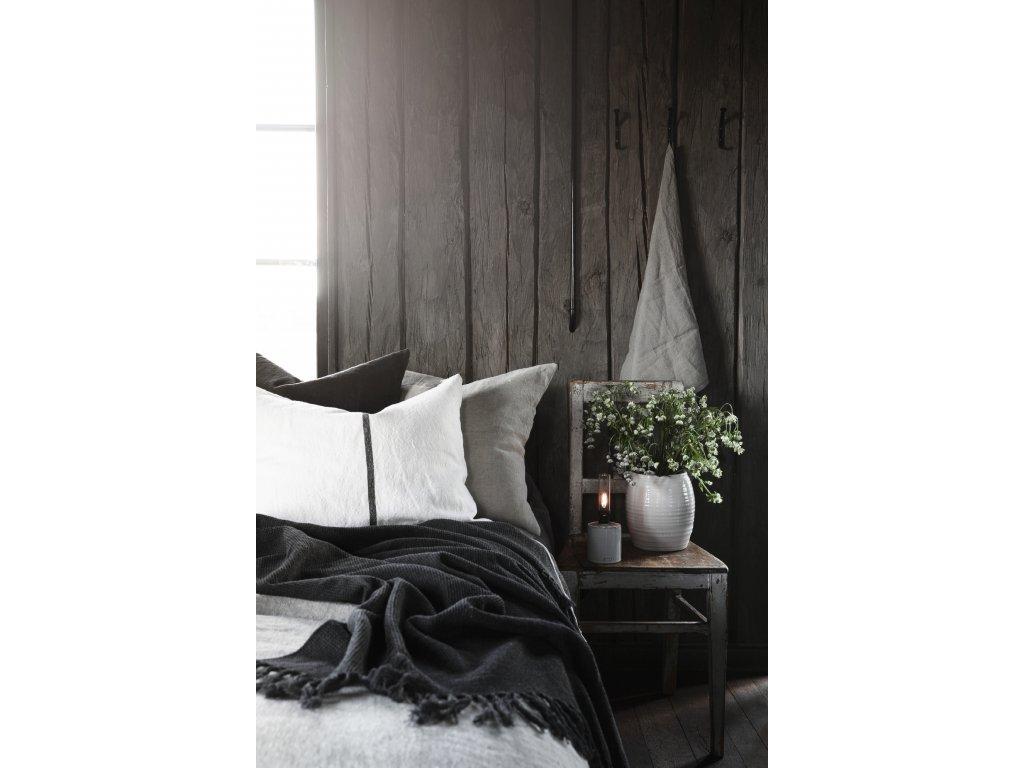 Lněný povlak na polštář - Dark Grey