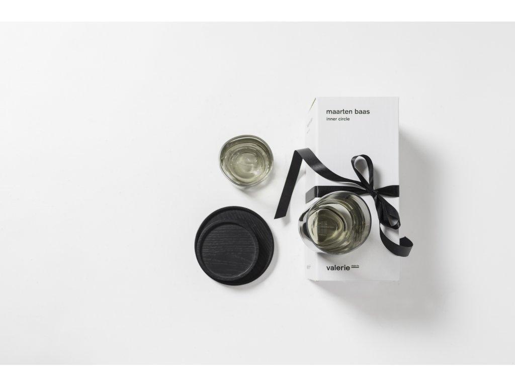 Dřevěný tácek Passe Black - Small