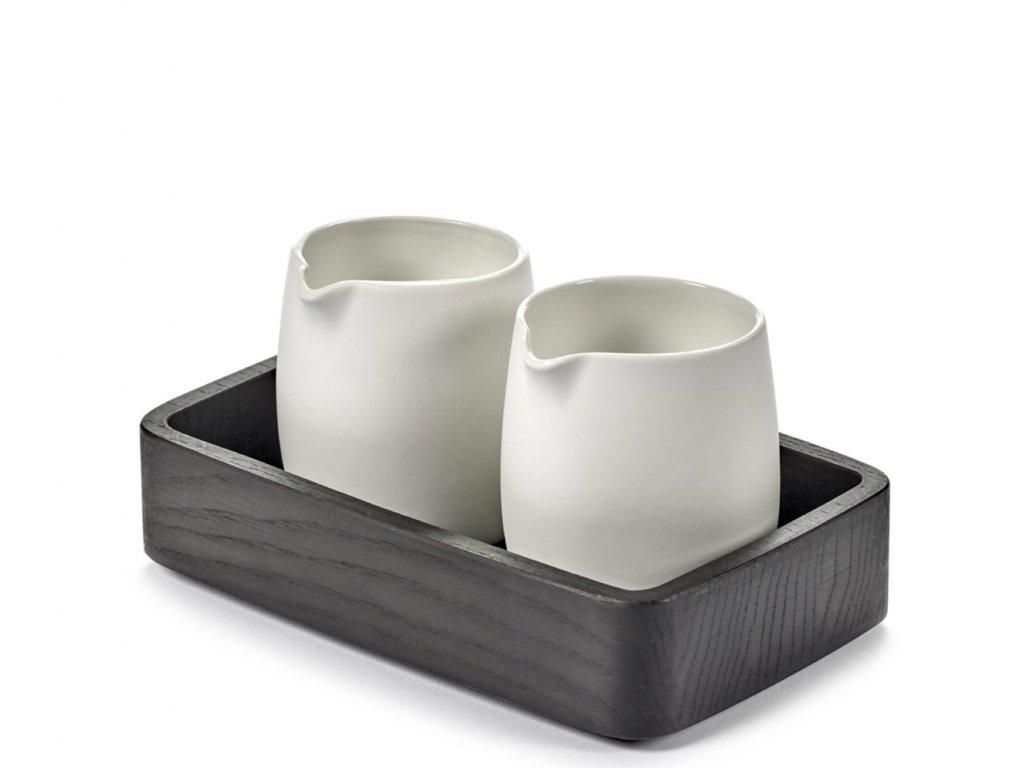 Dřevěná úložná miska Passe - Black
