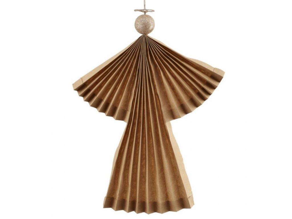 Papírový andílek Brown - 36 cm