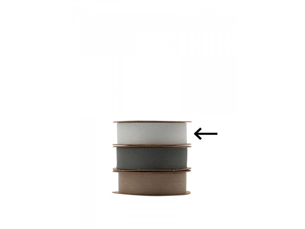 Dekorativní stuha Herringbone - Light Grey