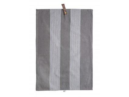 Bavlněná utěrka Utveda - Grey/White