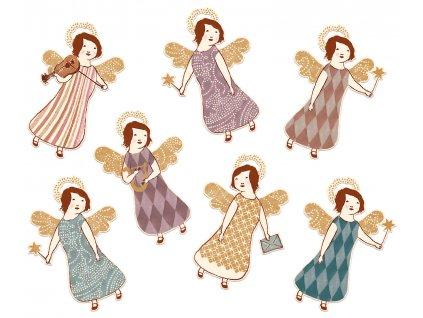 Dárkové visačky Angels - 14ks