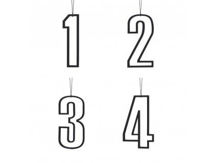 Černá adventní čísla - vykrojená