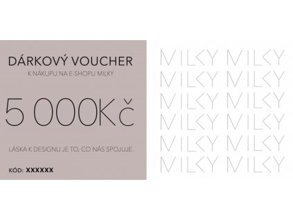 Dárkový voucher v elektronické podobě - 5000Kč