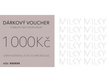 Dárkový voucher v tištěné podobě - 1000Kč