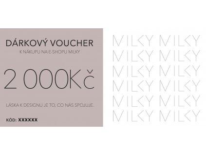 Dárkový voucher v tištěné podobě - 2000Kč