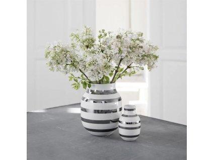Váza Omaggio Silver - 21 cm
