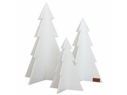 Sada vánočních stromečků - bílá, 3ks