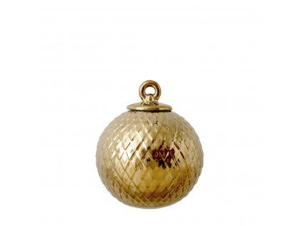 Porcelánová baňka Rhombe - Gold