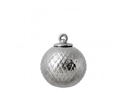 Porcelánová baňka Rhombe - Silver