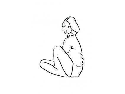 Plakát Model Drawing Sit - A4
