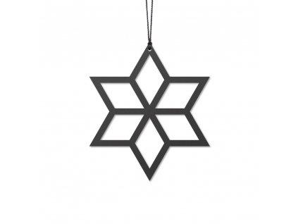 Ozdoba - černá hvězdička 2ks