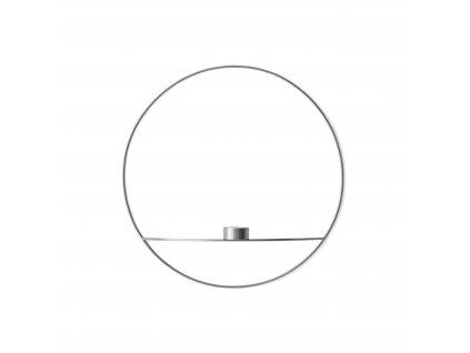 Svícen POV Circle Tealight Silver - L