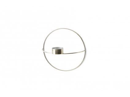 Svícen POV Circle Tealight Silver - S