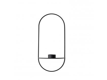 Svícen POV Oval Tealight Black