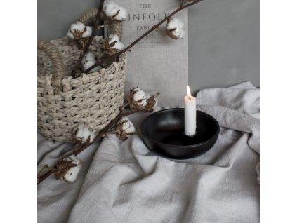 Keramický svícen Lidatorp M - Glossy Black