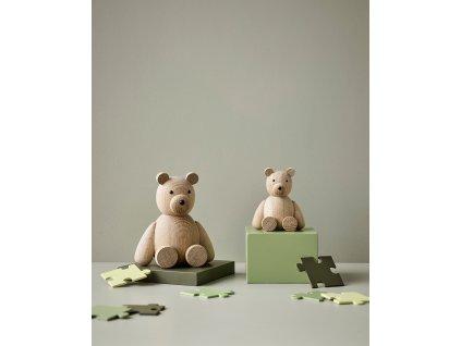 Dřevěný medvídek Teddy - Oak