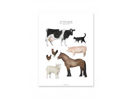 Plakát In the Barn 30x40cm