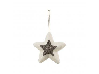 Vlněná hvězdička - 14 cm