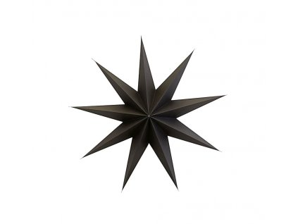Devíticípá papírová hvězda Brown - 87 cm
