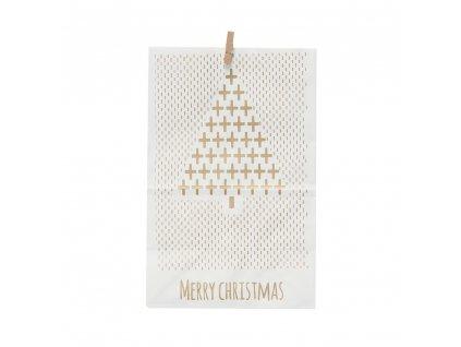 Papírový sáček White - Merry Christmas