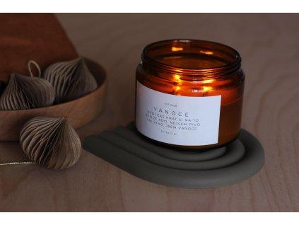 Svíčka VÁNOCE s vůní pomeranče a mleté skořice - 500ml