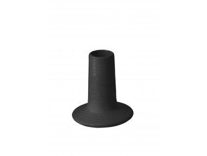 Kameninový svícen Fred Dark Grey - 9 cm