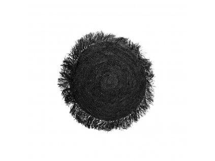 Polštář Raffia Round Black - 40 cm