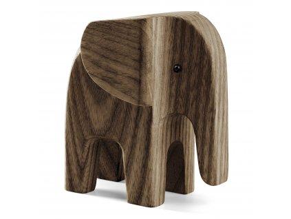 Dřevěný slon Mama Elephant  - Smoke Ash