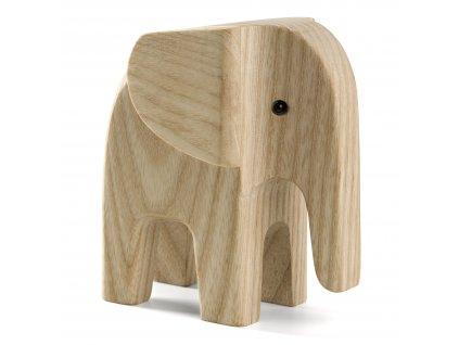 Dřevěný slon Mama Elephant  - Natural Ash