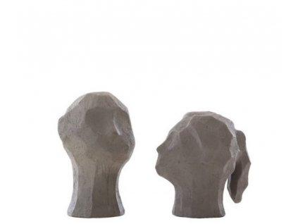 Betonové sošky Benedict & Amal - Graphite