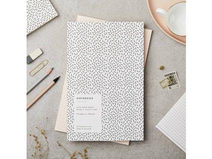 Zápisník Black & White - Confetti