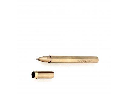 Kuličkové pero Brass - Black